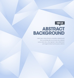 Polygonal Background Blue vector image vector image