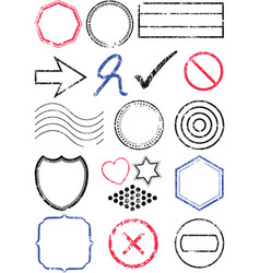 stamp set vector image vector image