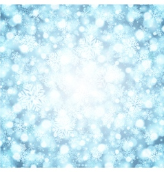 Christmas snowflakes and light vector image vector image
