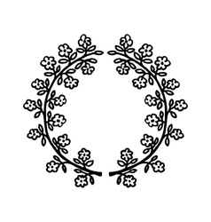 floral hand-drawn frame vector image vector image