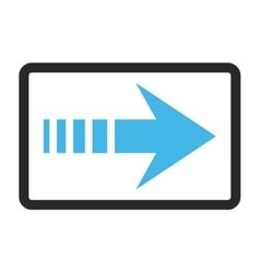 Send right framed icon vector