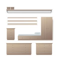 set of wardrobe furniture vector image vector image