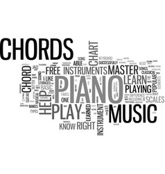 what can a free piano chord chart do for you text vector image vector image