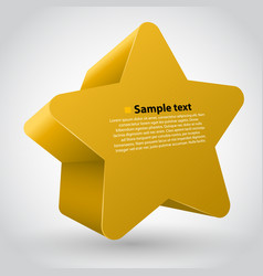 yellow star with text vector image vector image