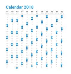 calendar 2018 in vertical design vector image