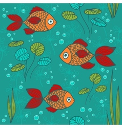 Fishes in a pond vector image vector image