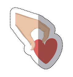 heart in the hand icon vector image