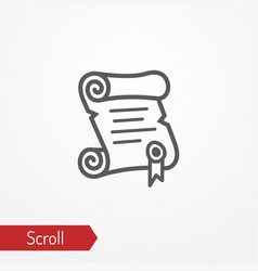 paper scroll silhouette icon vector image