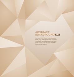 Polygonal Background Brown vector image vector image
