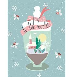 Glass Jar Greeting Card vector image