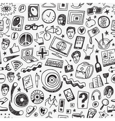 hipsters seamless background vector image vector image