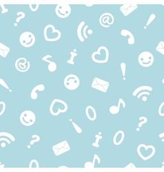 Internet symbols seamless pattern background vector image
