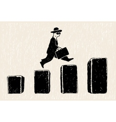Jumping businessman vector image vector image