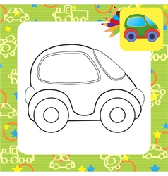 toy car for coloring vector image vector image