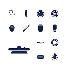 13 macro icons vector