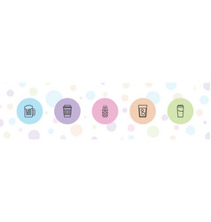5 beer icons vector