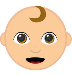 a babys face vector image