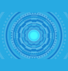 abstract blue circle circuit futuristic technology vector image