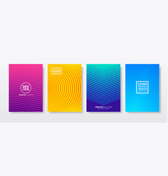 abstract gradient geometric cover designs vector image
