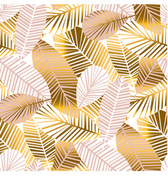 abstract tropical foliage seamless pattern vector image