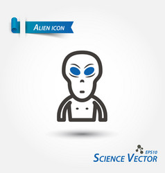 Alien icon scientific vector