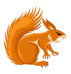 angry orange squirrel vector image