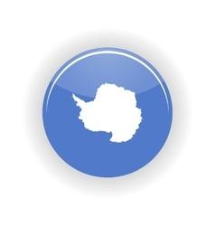 Antarctica icon circle vector image