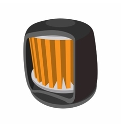 Automotive filter cartoon icon vector