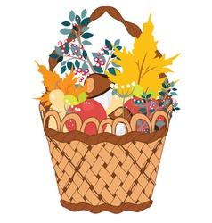 Basket of vegetables vector