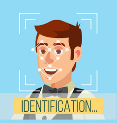 Biometric face identification human face vector