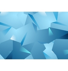 Blue technology polygonal background vector