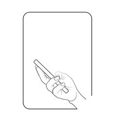 Border smartphone in hand 5 vector