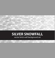 brick pattern set silver snowfall seamless vector image