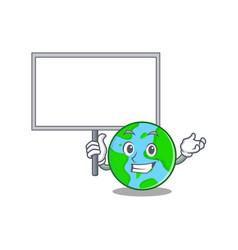 Bring board world globe character cartoon vector
