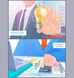 business idea concept analyze vector image
