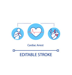 Cardiac arrest concept icon vector