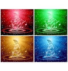 Christnas card set vector image