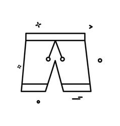 cloth pent trouser underwear icon design vector image
