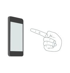 Demonstration screen mobile phone vector image