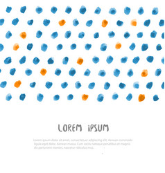 design template with ink dots texture and place vector image
