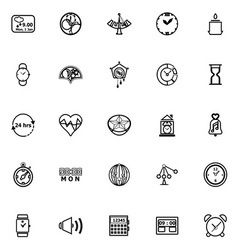 Design time line icons on white background vector image