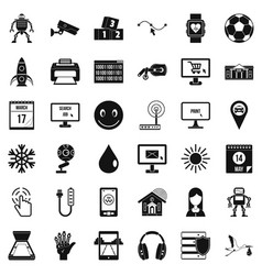 Different apps icons set simple style vector