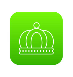 empire crown icon green vector image