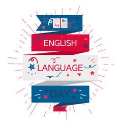 english language day banner vector image