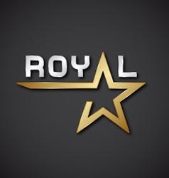 EPS10 royal golden star inscription icon vector image