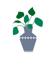 exotic tropical houseplant in a flower pot flat vector image