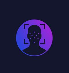 Face recognition biometric facial scan vector