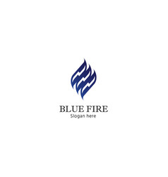 fire flame logo blue energy design concept vector image