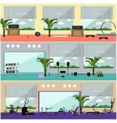 Fitness center interior Work vector image