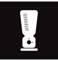 Flat icon in black and white style food processor vector